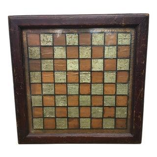Vintage Framed American Games Board C. 1860 For Sale