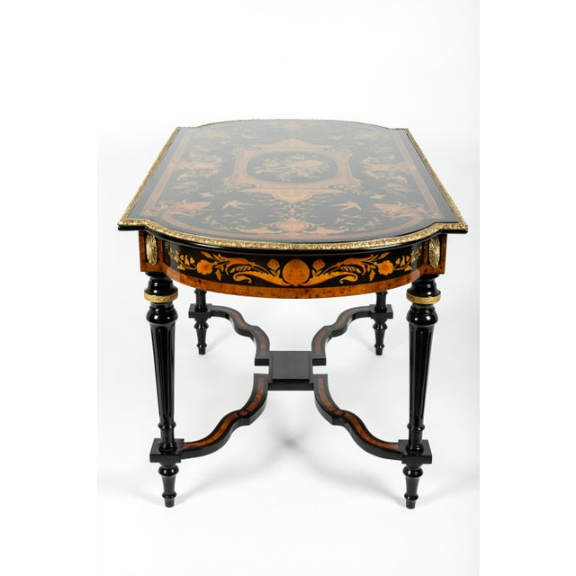 Mid 19th Century 19th Century Boulle Style Center Table For Sale - Image 5 of 11