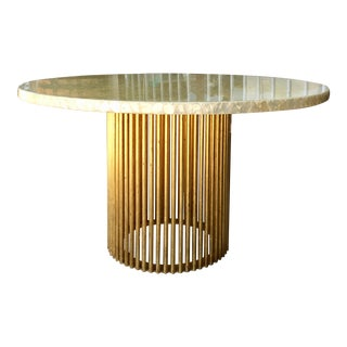 1970s Vintage Brass Dining Table For Sale
