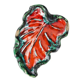 1940s French Art Deco Vine Leaf Jewelry Dish For Sale