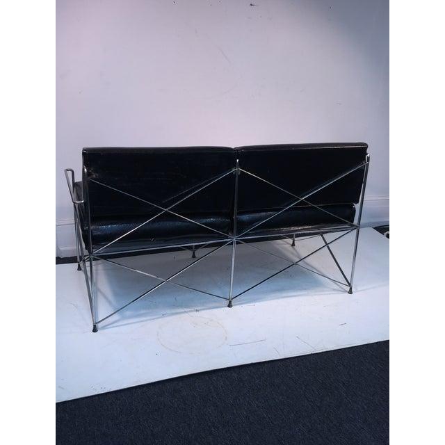 Exceptional Molecular Design Tubular Chrome Modernist Loveseat For Sale - Image 4 of 9