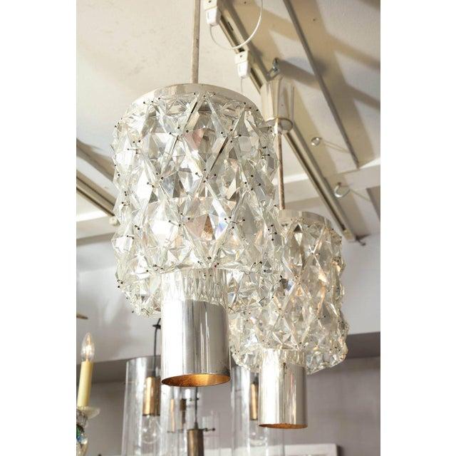 Glass Vintage Kinkeldey Pendant For Sale - Image 7 of 9