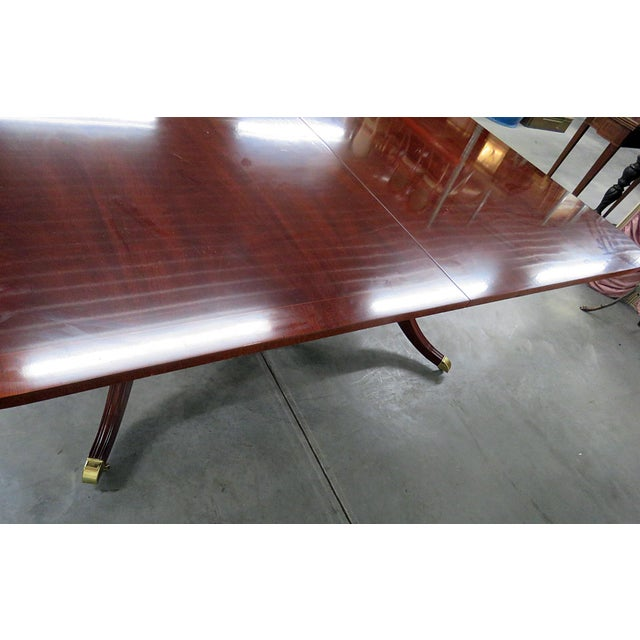 Mahogany Kindel Georgian Style Mahogany Dining Room Table For Sale - Image 7 of 13