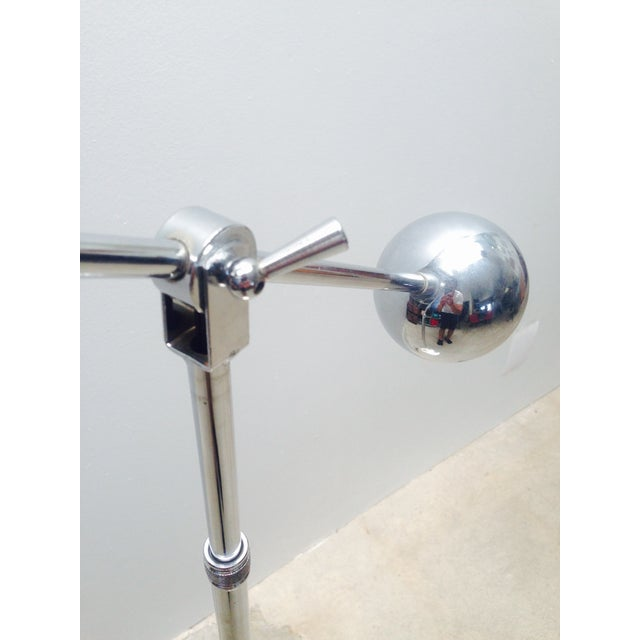 Mid-Century Modern Mid Century Chrome Counterweight Floor Lamp For Sale - Image 3 of 8