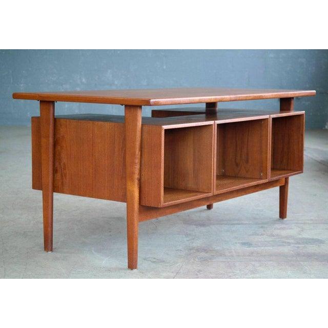 Brown Executive Teak Desk Model FM 60 by Kai Kristiansen for Feldballes Møbelfabrik For Sale - Image 8 of 10