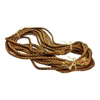 Vintage Nautical Woven Hemp Rope