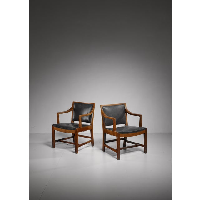 Animal Skin Pair of Kay Fisker attributed Danish armchairs, 1940s/50s For Sale - Image 7 of 7