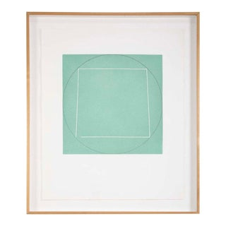 """1970s Robert Mangold, Aquatint Etching Titled """"Distorted Square Within a Circle"""" For Sale"""