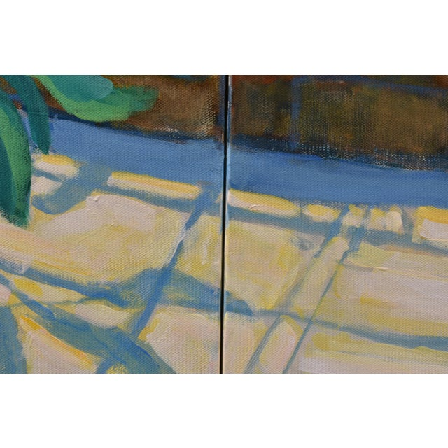 "Blue Contemporary Large Painting, ""The Greenhouse"", by Stephen Remick For Sale - Image 8 of 13"