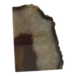Brown Agate Sculptural Object For Sale