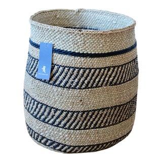 Hand Woven Iringa Grass Basket by Rejuvenation For Sale