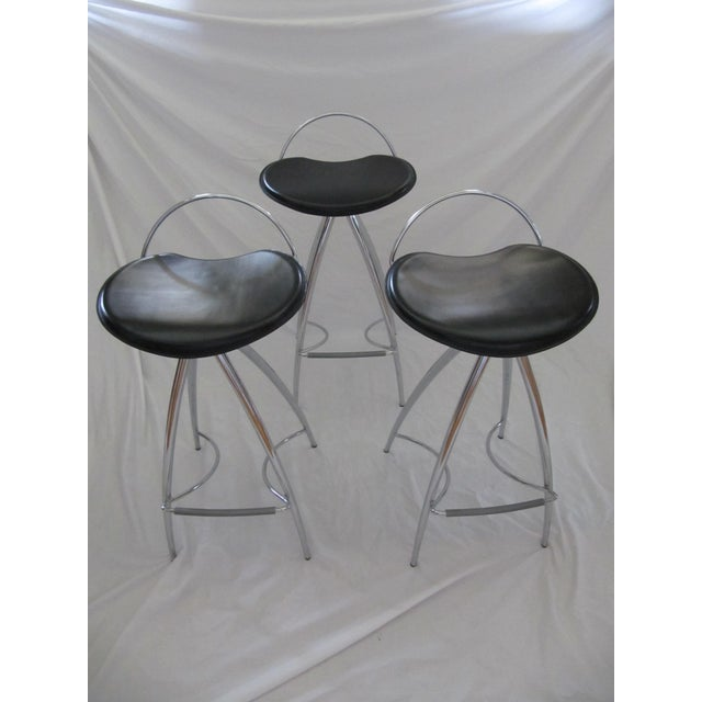 Cattelan Italian Leather Counter Stools- Set of 3 - Image 2 of 9