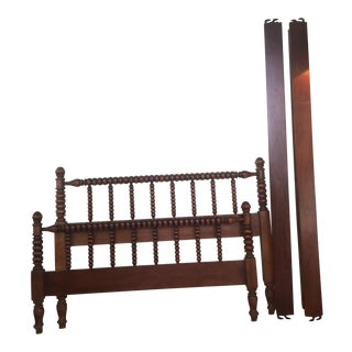 1920's Fruitwood Turned Bed Frame For Sale