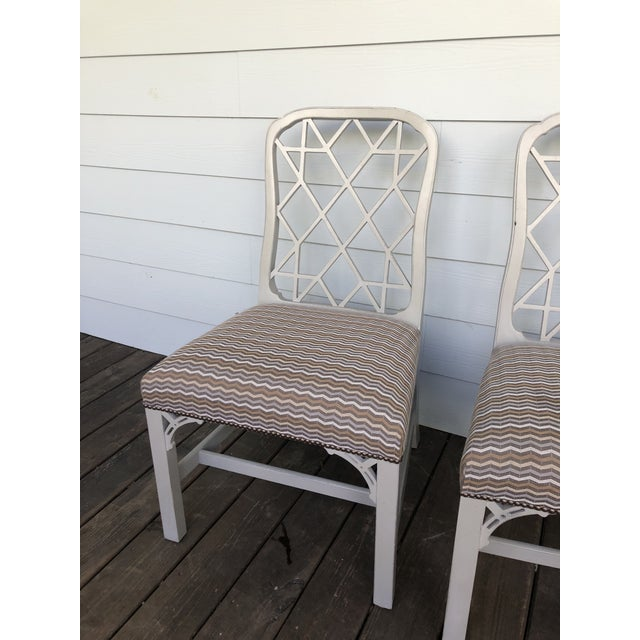 Hickory Furniture Linwood Chippendale Chairs- Set of 4 For Sale - Image 10 of 11