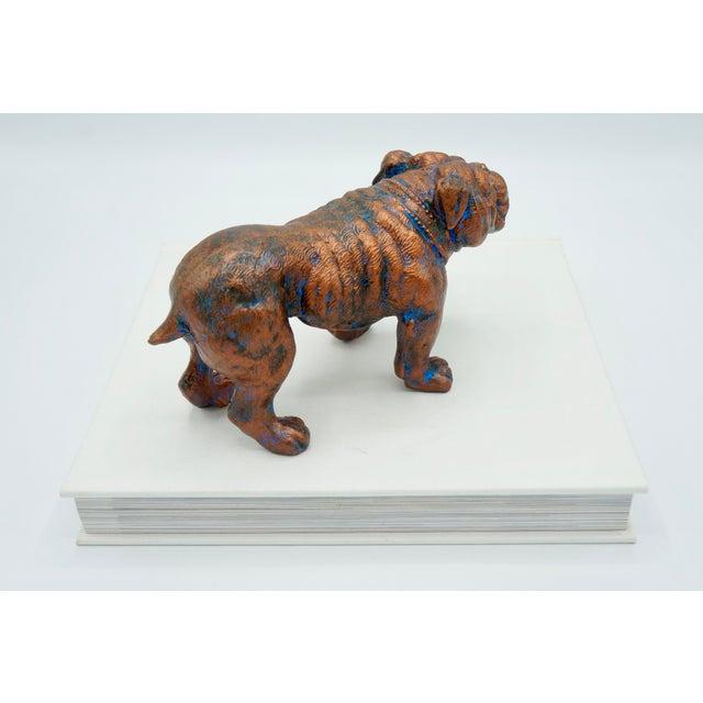 Metal Mid-Century Modern Bulldog Statue For Sale - Image 7 of 8