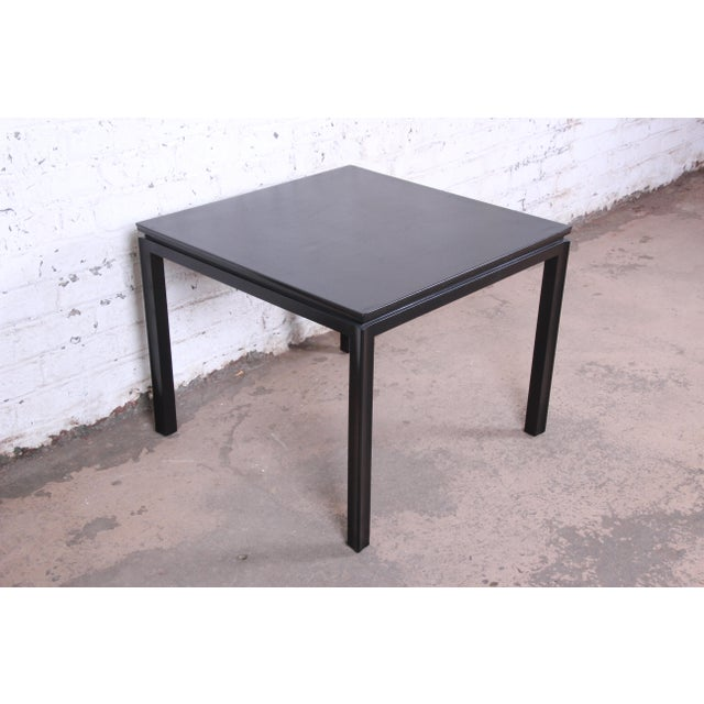 1950s Edward Wormley for Dunbar Ebonized Mahogany Game Table or Occasional Side Table, Newly Refinished For Sale - Image 9 of 9