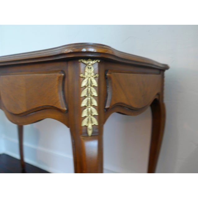 1960's Leather Top Writing Desk For Sale - Image 4 of 10