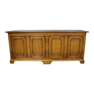 John Widdicomb Painted Regency Credenza with Gilt Accents For Sale