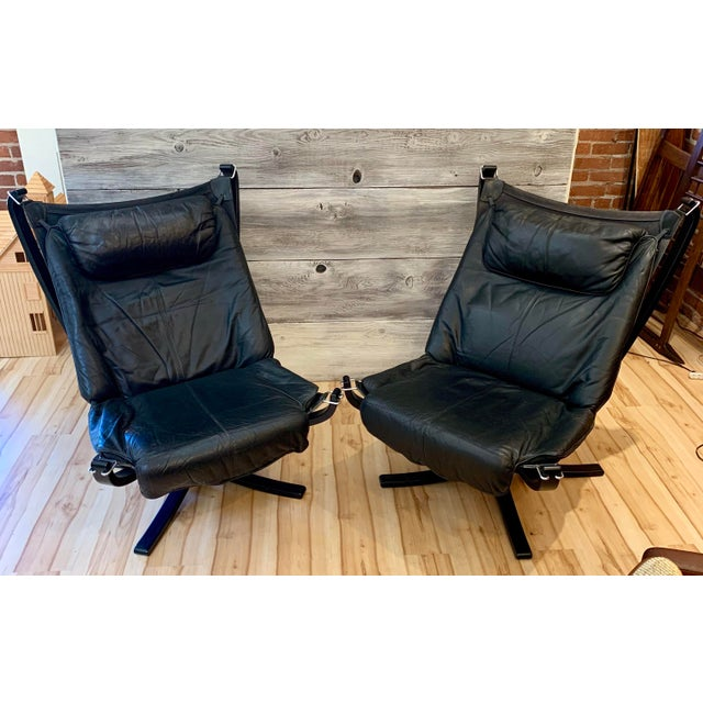 1960s Sigurd Ressell Highback Falcon Lounge Chairs - a Pair For Sale - Image 13 of 13