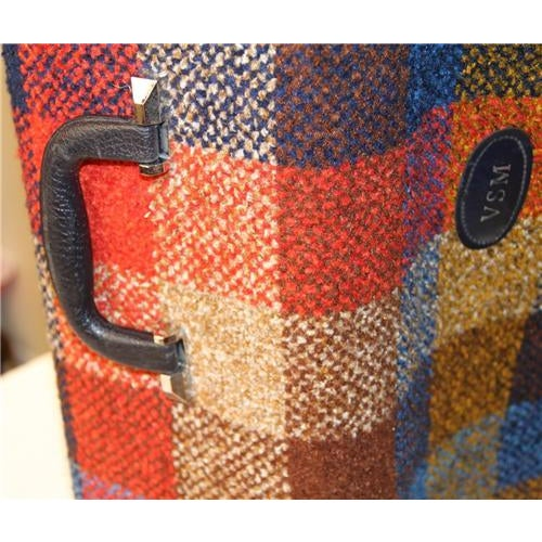 Vintage Bright Chenille Skyway Suitcase - Image 9 of 10