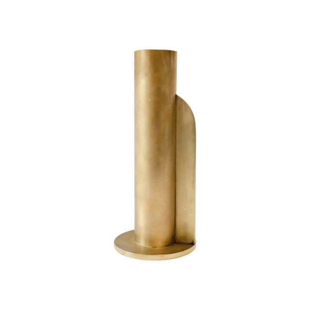 Gold Modern Contemporary 001 Vase in Brass by Orphan Work For Sale - Image 8 of 8