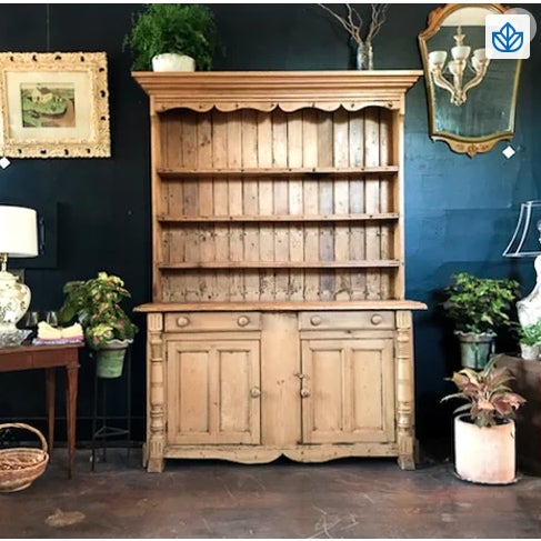 Early 19th Century Early 1800's Scandinavian Pine Hutch For Sale - Image 5 of 5