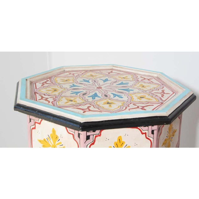 Moroccan Hand Painted Side Tables - a Pair For Sale - Image 9 of 13
