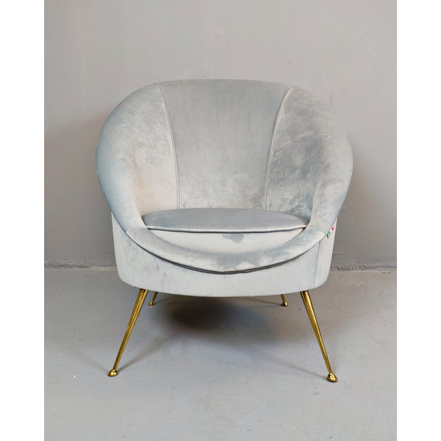 Italian Mid-Century Armchairs - a Pair For Sale - Image 4 of 12