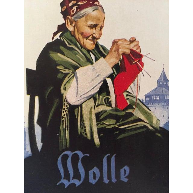 Art Deco 1927 German Art Deco Mini Poster, Eplinger Wool For Sale - Image 3 of 5