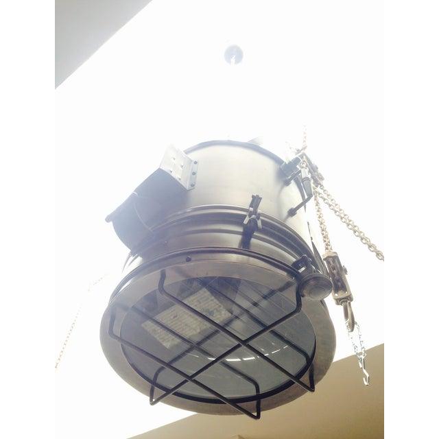 Industrial Large Industrial Hanging Pendant Light Chandelier For Sale - Image 3 of 11