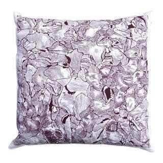 """Lava"" Plum Color Throw Pillow For Sale"