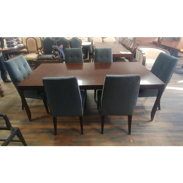 Wood Henredon Furniture Barbara Barry Perfect Parsons Walnut Dining Table For Sale - Image 7 of 13