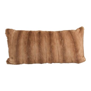 Large Caramel Mink Lumbar Pillow For Sale