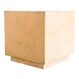 20th Century Modern Henredon Cube Side Table For Sale