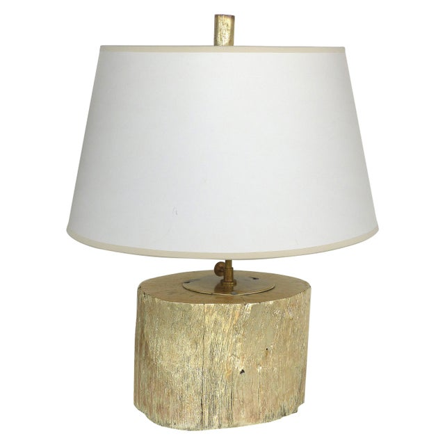 Silver Leaf and Giltwood Table Lamp For Sale - Image 9 of 9