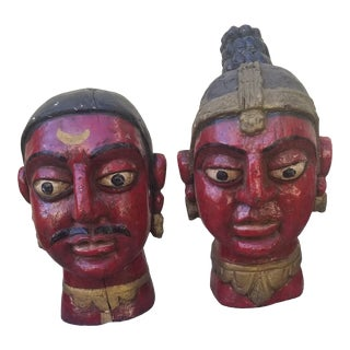 Pair Rajasthani Indian Statues For Sale