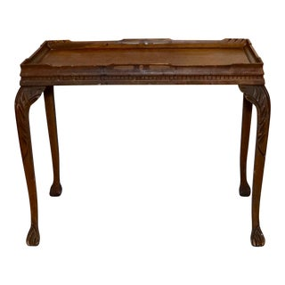 19th Century Chippendale Tea Table With Claw Feet For Sale