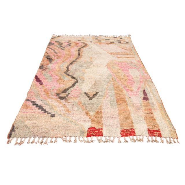 Vintage Azilal Moroccan Wool Rug For Sale - Image 12 of 13