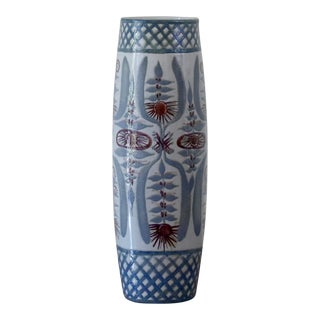 Nils Thorsson for Royal Copenhagen Tall Faience Vase For Sale