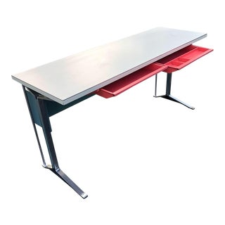 1960s Mid Century Modern Steel Writing Desk For Sale