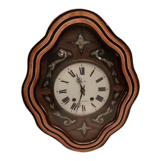 Antique 19th Century French Wall Clock For Sale