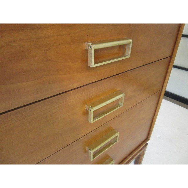 Brown Kip Stewart Mid-Century Mahogany and Brass Server or Sideboard for Drexel For Sale - Image 8 of 9