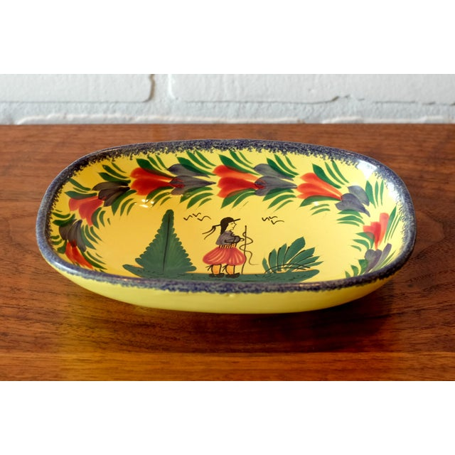 Antique Quimper hand painted tray. Made in France.