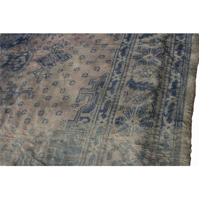 Blue Antique Turkish Oushak Rug - 12′9″ × 13′3″ For Sale - Image 8 of 10