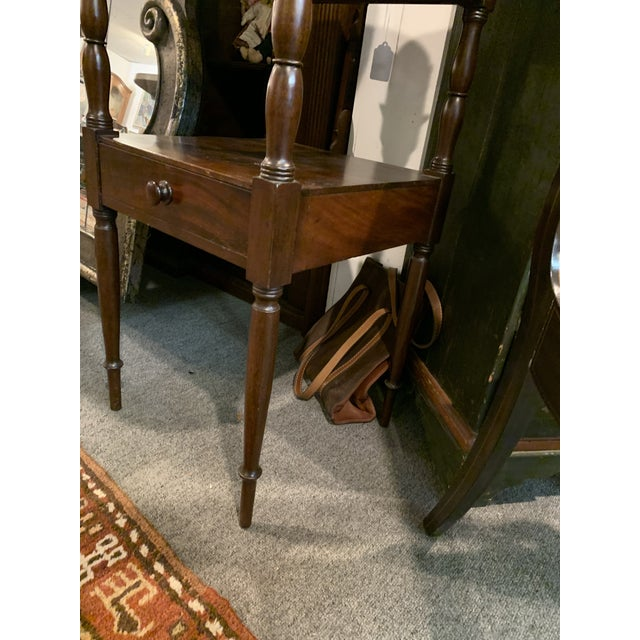 Gallery Back Sheraton Style Wash Stand For Sale In New York - Image 6 of 10