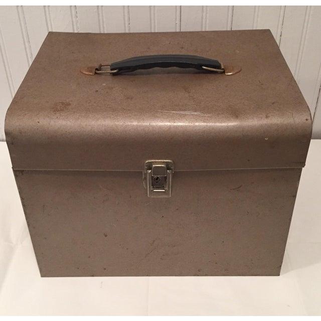 Retro Rustic Industrial Grey Metal Box - Image 2 of 10