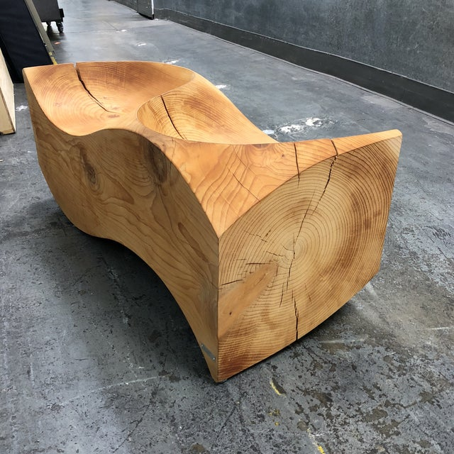 Contemporary Cedar Loveseat by Jake Phipps for Riva1920 For Sale - Image 3 of 13