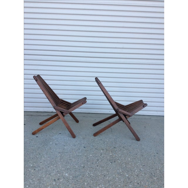 Beach Folding Chairs - A Pair - Image 3 of 11