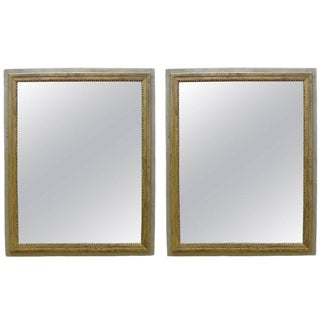 French Painted and Giltwood Mirrors - a Pair