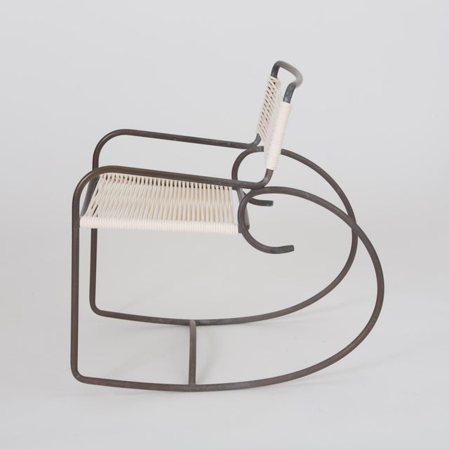 1950s Single Walter Lamb Rocking Chair for Brown Jordan For Sale - Image 5 of 7